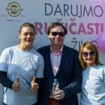 Sandra Perkovic, Nenad Korkut i doc.dr.sc Vesna Ramljak (predsjednica udruge europa donna Hrvatska)